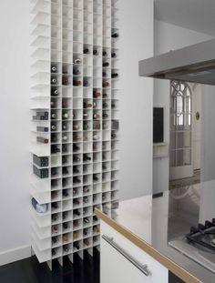 botellero de cocina en casa barcelonesa
