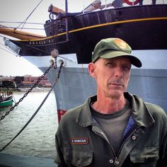 Ron Duncan and his beloved Balclutha!