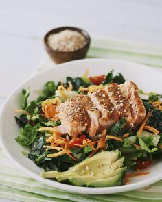 easy warm salmon salad with lime vinaigrette #paleo #primal #quick