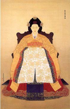 Queen Min (Min Bi), the last queen of Korea Creative Pictures, Ancient Korean Art, Asian Art, Illustration, Korean Traditional, Painting, Imagery, Art