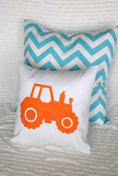 Have the pillow made with a red tractor - Customize your Own Hand Painted Pillow by GrandmasChalkboard