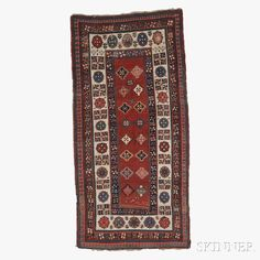 Talish Long Rug, South Caucasus, third quarter 19th century,  7 ft. 10 in. x 3 ft. 10 in.   Skinner Auctioneers Sale 2752B