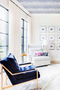 designer Lori Paranjape; you are stuck with the ceiling if you ever want to change room color