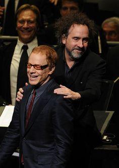 Danny Elfman & Tim Burton Tim Burton Style, Tim Burton Films, Danny Elfman Movies, Elf Man, Oingo Boingo, Celebrity Skin, Helena Bonham Carter, Cinema, Beetlejuice