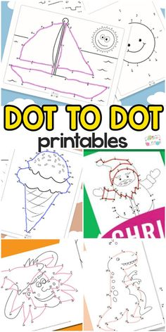 Connect The Dots Printables Connect The Dots Printables for Kids. Great early math and writing coordination activity for kids. Preschool Learning, Preschool Crafts, Fun Learning, Teaching, Learning Sites, Interactive Learning, Printable Activities For Kids, Toddler Activities, Preschool Activities