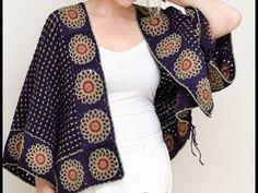 El Örgüsü Hırka Modelleri, Tığişi Örgü Hırkalar, Knitting - YouTube Crochet Coat, Knitted Poncho, Crochet Cardigan, Crochet Clothes, Crochet Round, Crochet Motif, Easy Crochet, Crochet Sunflower, Shearling Vest