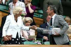 Camilla Duchess of Cornwall and CP Frederik of Denmark at Wimbledon. June 30 2016