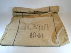 274) Original WWII German military supplies sack marked H.Vpfl 1941 Est. £30-£40