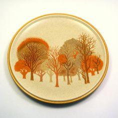 Vintage 1960s Mikasa Walnut Grove Dinner Plates, $28 from BlissAndVinegar on Etsy