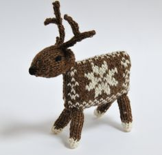 Knitting Kit - Knit your own Reindeer.  Thinking could make from old sweater.