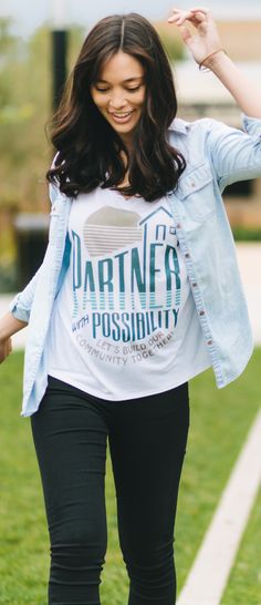 The most promising word to underprivileged communities is possibility. This design is inspired by the work done by Habitat for Humanity that is building a future for people all over the world. Wear this shirt and inspire others to get involved and be a part of bettering our communities!