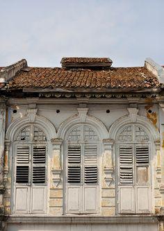 Old Colonial Shophouse Malaysia Doors Windows
