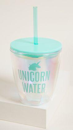 Feel like magic when you drink your water! Unicorn Cups, Unicorn Party, Unicorn Land, Unicorn Birthday, Water Tumbler, Water Flask, Tumbler Cups, E Claire, Unicorn Room Decor