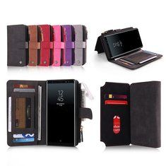 [US$17.99] POLA Magnetic Detachable Wallet Card Slots Case For Samsung Galaxy Note 8/S8 Plus/S8/S7 Edge/S7  #card #case #detachable #edges7 #galaxy #magnetic #note #pluss8s7 #pola #samsung #slots #wallet
