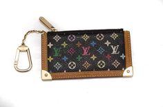 Louis Vuitton Black Multicolore Key or Coin Pouch