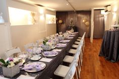 Long Table Decor - Toronto Wedding Chapel