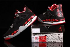 Czech 2014 New Nike Air Jordan Iv 4 Retro Mens Shoes Free Black Red