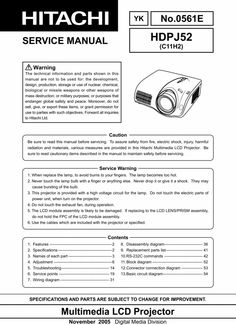 Hitachi HD-PJ-52 Projector Original Service Repair Manual in PDF PDF format suitable for Windows XP, DOWNLOAD Global Safety, Procedural Writing, Electrical Wiring Diagram, Weapon Of Mass Destruction, Projectors, Repair Manuals, Pdf, The Originals, Windows Xp