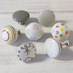Extra Large Vintage Colourful Ceramic Cupboard Knobs by Pushka Home, the perfect gift for Explore more unique gifts in our curated marketplace. Cupboard Door Knobs, Cupboard Drawers, Drawer Knobs, Drawer Handles, Door Handles, Cabinet Knobs, Door Pulls, Shabby Chic Handles, Ceramic Door Knobs