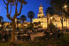 Arequipa, Peru, Plaza de Armas. Someday, I shall return to you...