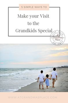 5 simple ways to make your visit to the grandkids special. Sure... your might think these tips are obvious but sometimes it's good to revisit their pointers to ensure that everything goes smoothly and our visit is a happy memory for everyone. Find out more atgrandmasplace.com