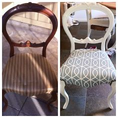 reupholstering chairs-- will be doing this with the free chairs i got today!