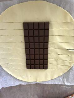 tresse feuilleté au chocolat