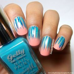 Nails By Kizzy: WNAC2015: Cobalt and Peach