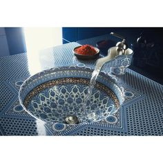 moroccan design, bathroom sink and faucet moroccan style never seen a faucet design like this one Moroccan Design, Moroccan Decor, Moroccan Style, Moroccan Bathroom, Moroccan Arabic, Modern Moroccan, Bathroom Sink Design, Undermount Bathroom Sink, Bathroom Sinks
