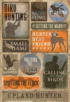 "cardstock stickers bird hunting - 9"" x 5.5"""