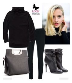 Total Black with Louboutin messenger bag/