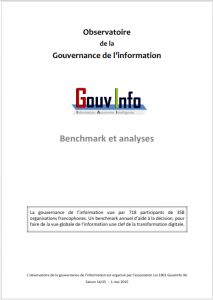 GouvInfo LB Benchmark Observatoire 2015 gouvernance de l'information