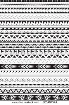 Maori brushes set in white