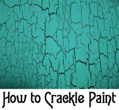 So many ideas for crackle painting.Here are instructions on How to Crackle Paint without using any expensive designer paint. accessories design How to Crackle Paint Paint Furniture, Furniture Projects, Furniture Makeover, Diy Projects, Furniture Stores, Furniture Websites, Crackle Furniture, Furniture Outlet, Furniture Design
