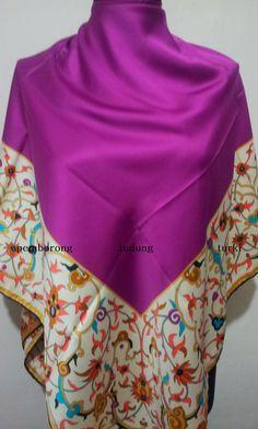 120cm x 120cm - bidang 50  material saten matte / saten silky ( not shine )
