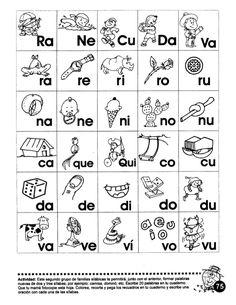 Actlvldad:  Este segundo grupo de familias silabicas te pennitira,  junto con el ant 'or,  forma abras  nuevas de dos y tre...