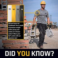 International Tuesday. ‪#‎DidYouKnow‬ ‪#‎CatWorkwear‬ ‪#‎TrademarkTee‬ ‪#‎BuiltForIt‬ ‪#‎EquipYourself‬