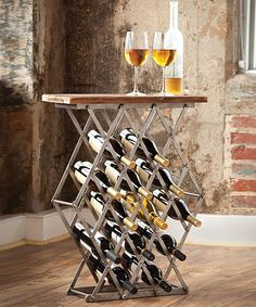Great wine rack and table.