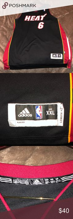 7af54887a7 Adidas Labron  6 Heat Jersey. Adidas. Spotted while shopping on Poshmark   ...