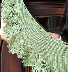 oak leaf shawlette- very similar to the one my sister in law knit for me- love it.