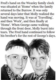 Fred and George. always together.
