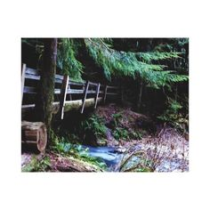 Rustic Wooden Bridge Olympic Park Canvas Print