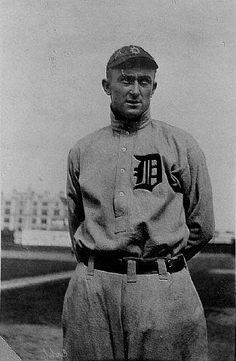 Tyrus Raymond Cobb, a.k.a. Ty Cobb.  While he was not well like by players on and off his team, and his off field positions are questionable, there is no question that he is probably the greatest Tiger ever, and one of the best baseball players ever.  First player into the Hall of Fame, set 90 records in his time, several of which are still active even today.