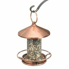 Steel gazebo-inspired birdfeeder with a venetian bronze finish.Product: Birdfeeder   Construction Material: Steel  Color: Venetian bronze  Features:     Large ring for easy hanging  Wide perch for birds to sit comfortably  Easy to fill   Dimensions: 14.5 H x 9 Diameter