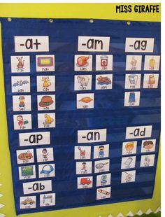 Sorting short a words by word family and other fun ways to teach short vowels. Sorting short a words by word family and other fun ways to teach short vowels. You can use the headers to sort picture cards in a pocket chart vertically or horizontally. Short Vowel Activities, Word Family Activities, Phonics Activities, Autism Activities, English Activities, Kindergarten Centers, Preschool Learning, Kindergarten Activities, Literacy Centers
