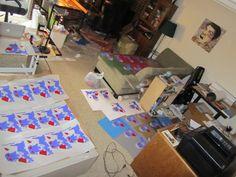 "Printing ""General Doom"" Art Collab by Sam Arneson & John Houser"