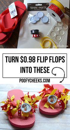 Disney Ribbon Flip Flops