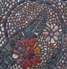 Pebble mosaic by alice.rogman✖️More Pins Like This One At FOSTERGINGER @ Pinterest✖️