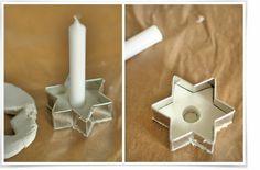 Kerzenständer aus Modelliermasse