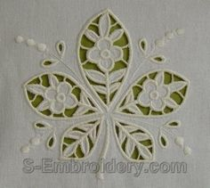 cutwork embroidery designs - Google Search
